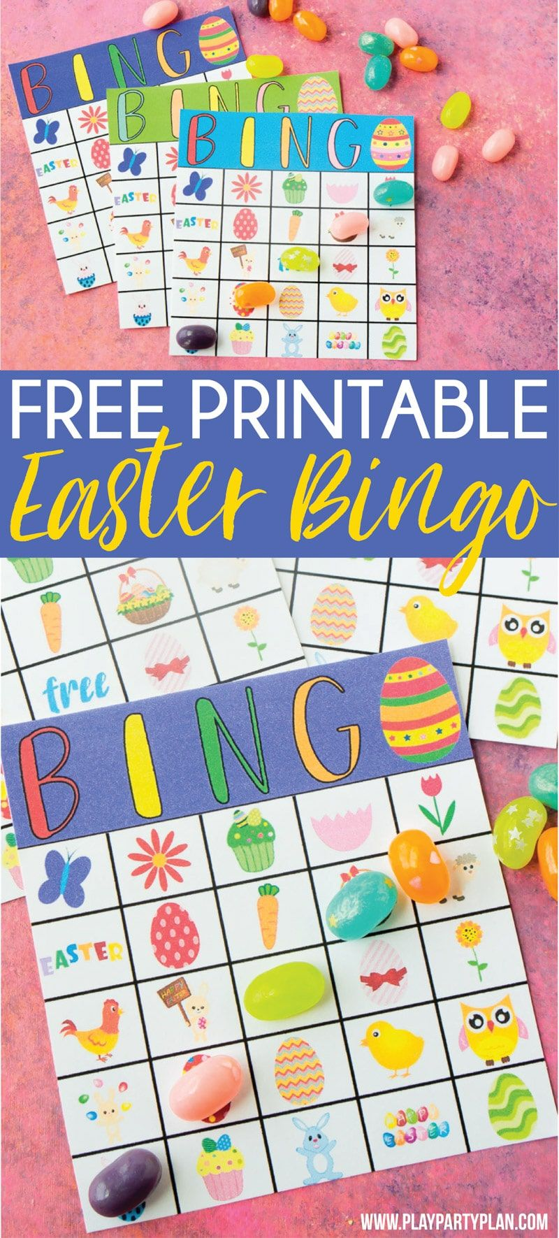Free Printable Easter Bingo Cards Easter party games