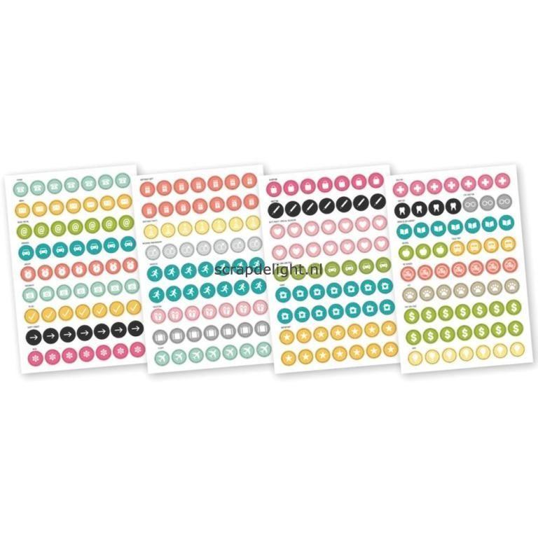 Simple Stories | Simple Stories Carpe Diem: Calendar stickers | Scrapdelight Scrapbookwinkel