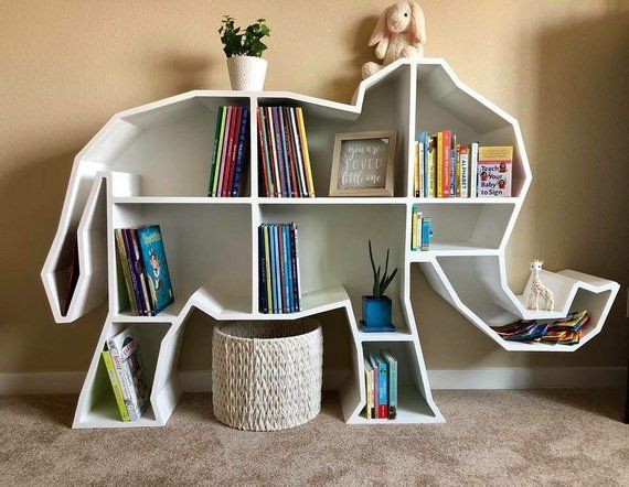 Elephant Bookcase Storage Kids Room Kid Room Decor