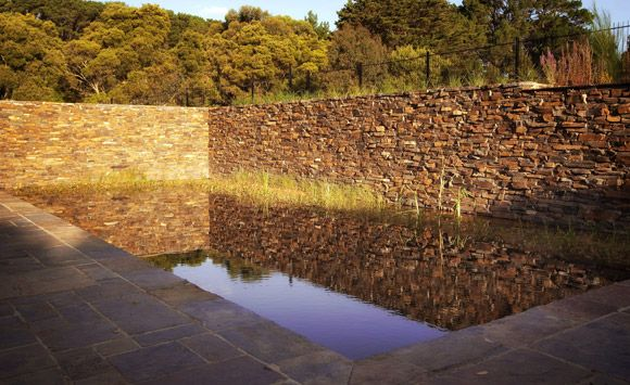 Natural Dry Stone Pool by Eckersley Garden Architecture