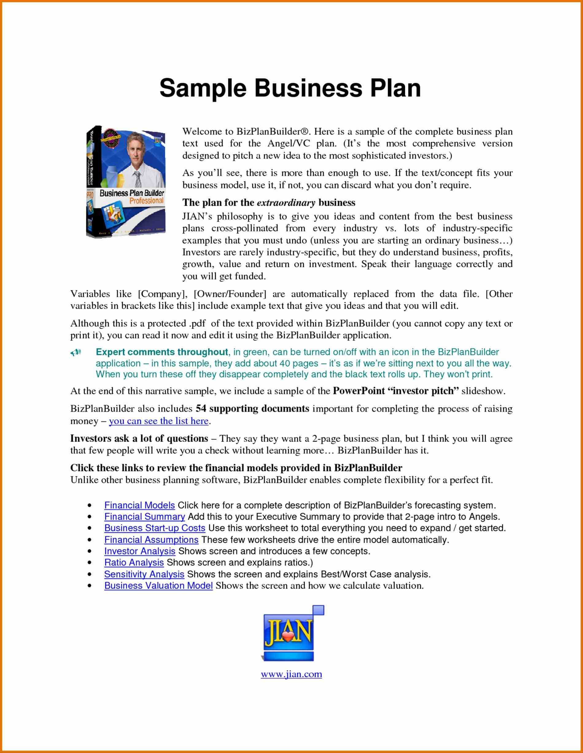 Business Business Plan Templates Pdf Plan Template Pdf Free
