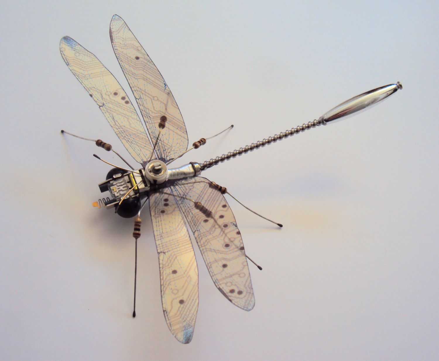 Dragonfly Computer Component Insect By Julie Alice