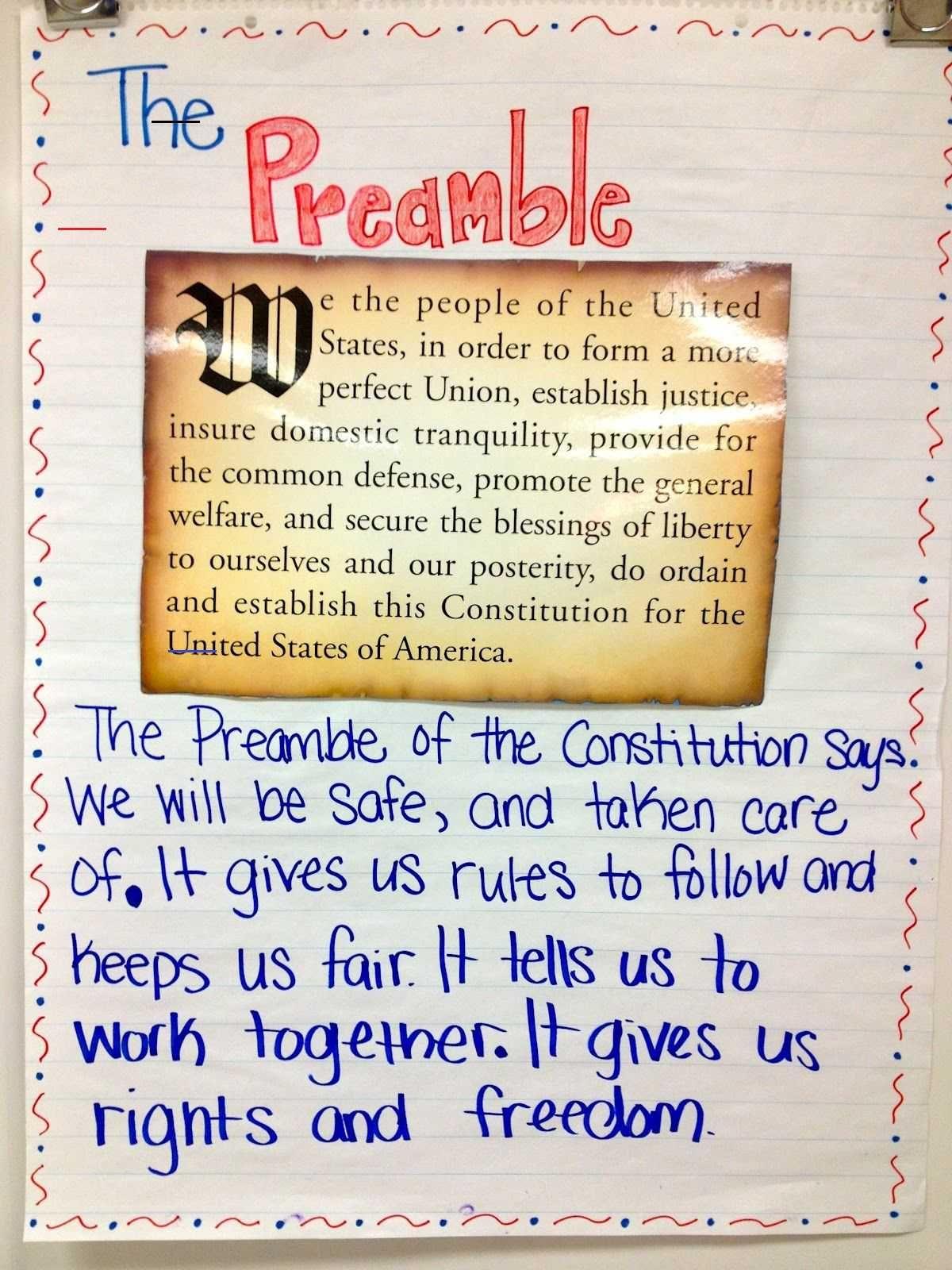 Teachingsocialstudie In 2020 Discus The Preamble Of Constitution