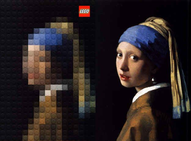 Girl with a Pearl Earring, Johannes Vermeer | Famous Paintings Reimagined Using Legos