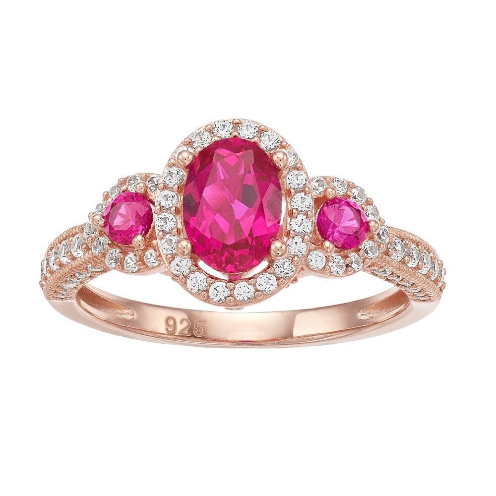Enchanted Disney Belle 1 10 Ct T W Diamond Rose Ring In 10k Rose 500 Liked On Polyvo Pink Gold Ring Engagement Pink Gold Rings Pink Gold Diamond Ring