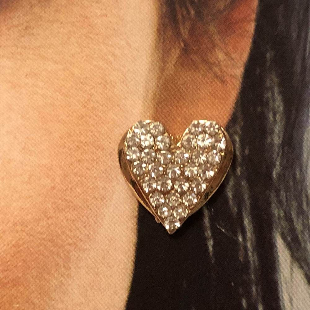 038af0ad0356 Women s Gold Filled Real Crystal Heart Earrings