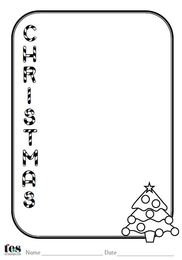 A set of 4 Christmas themed acrostic poem sheets. Each