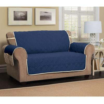 Terrific 5 Star Extra Large Sofa Protector In Navy Ivory Products Machost Co Dining Chair Design Ideas Machostcouk