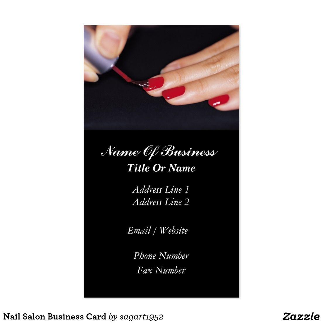 Nail salon business card pinterest nail salons and salons nail salon business card reheart Image collections