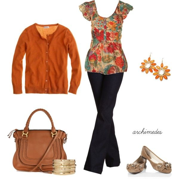 """""""Orange Hues"""" by archimedes16 on Polyvore"""