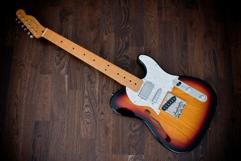 Fender Telecaster Thinline, 3 pickups Sunburst | Bonitos ...