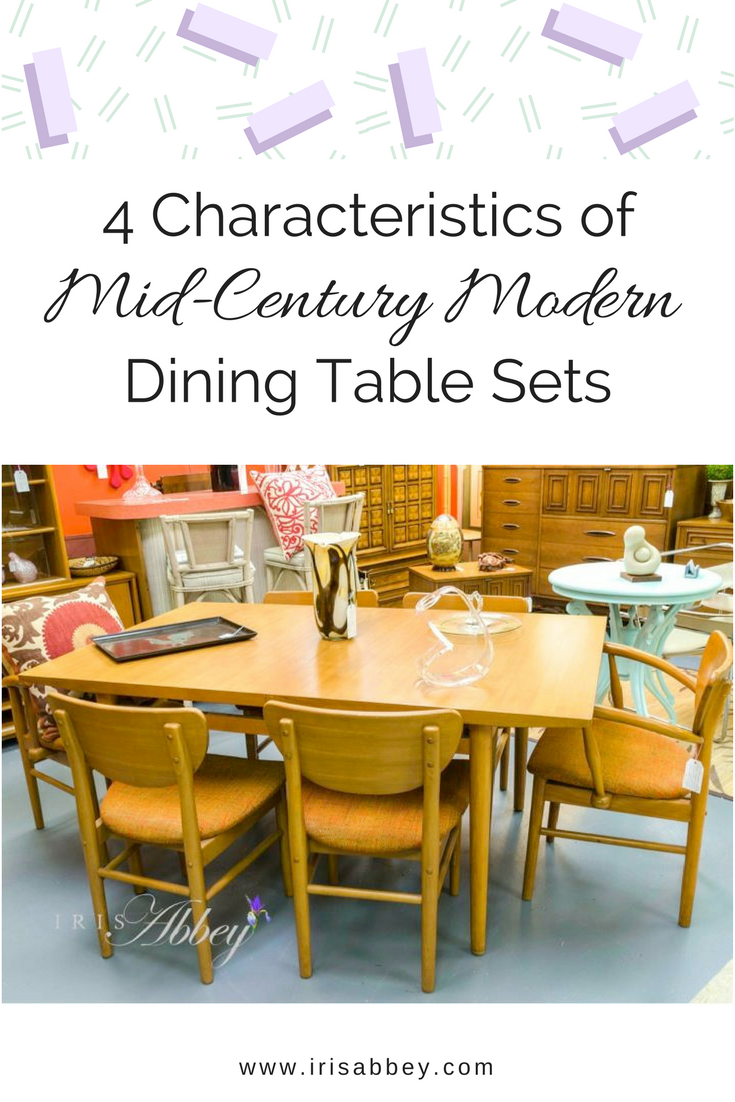 4 Characteristics Of Mid Century Modern Dining Table Sets Midcentury