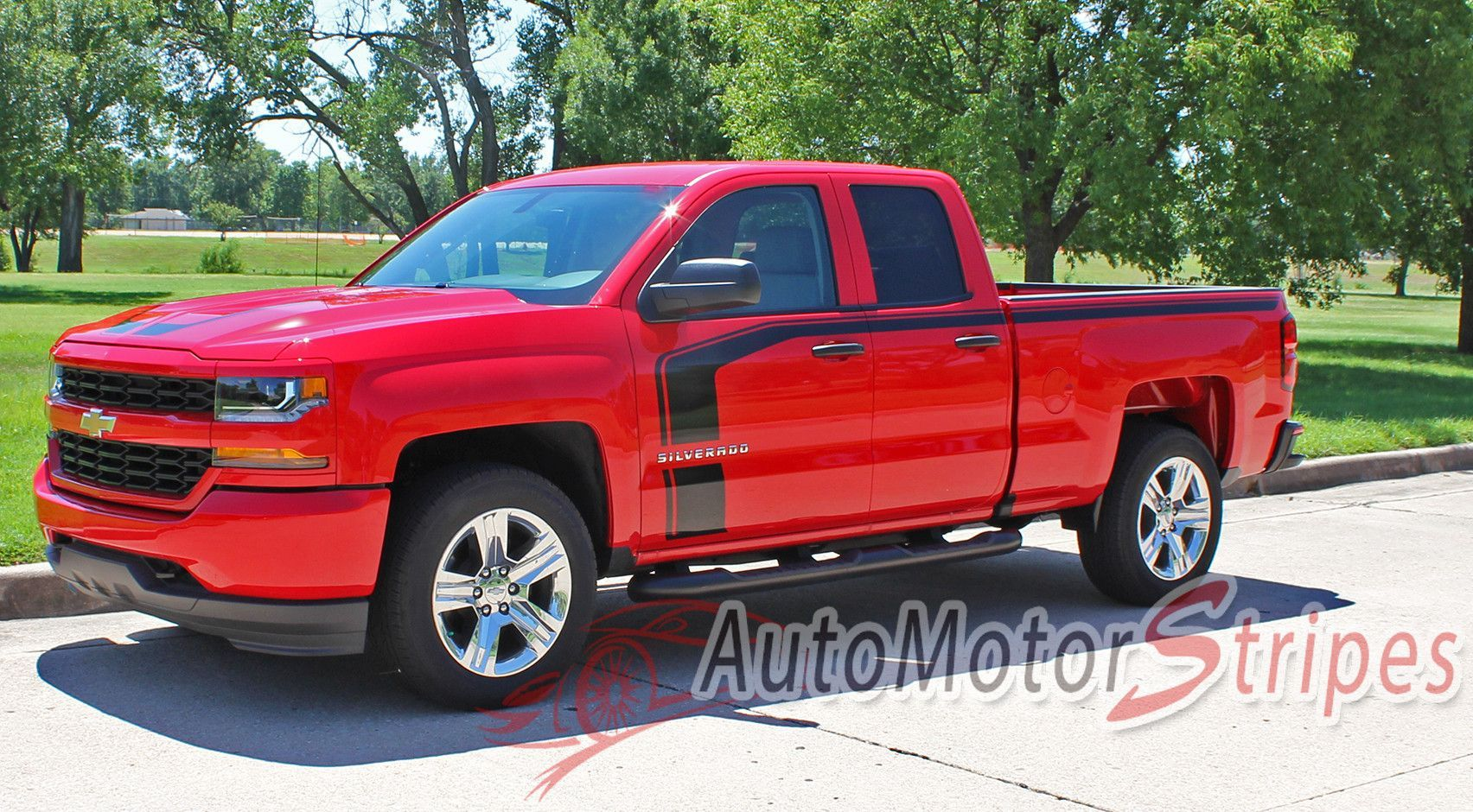 2016 2017 Chevy Silverado Flow Special Edition Rally Style Truck Hood Racing Stripes Side Door Vinyl Graphics Package
