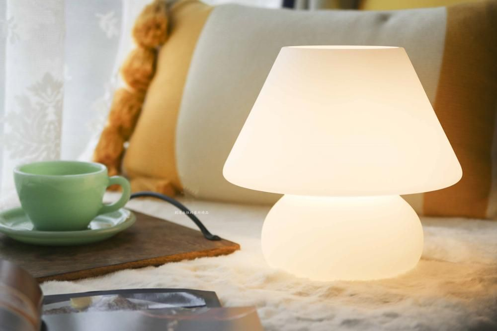 137 69us 44 Off White Table Lamp Glass Table Light Cute Table Lamp Small Table Light Lovely Table Light For Kids Christmas Gift Lamp Led Table Lamps Ali Mushroom Lamp Glass Table