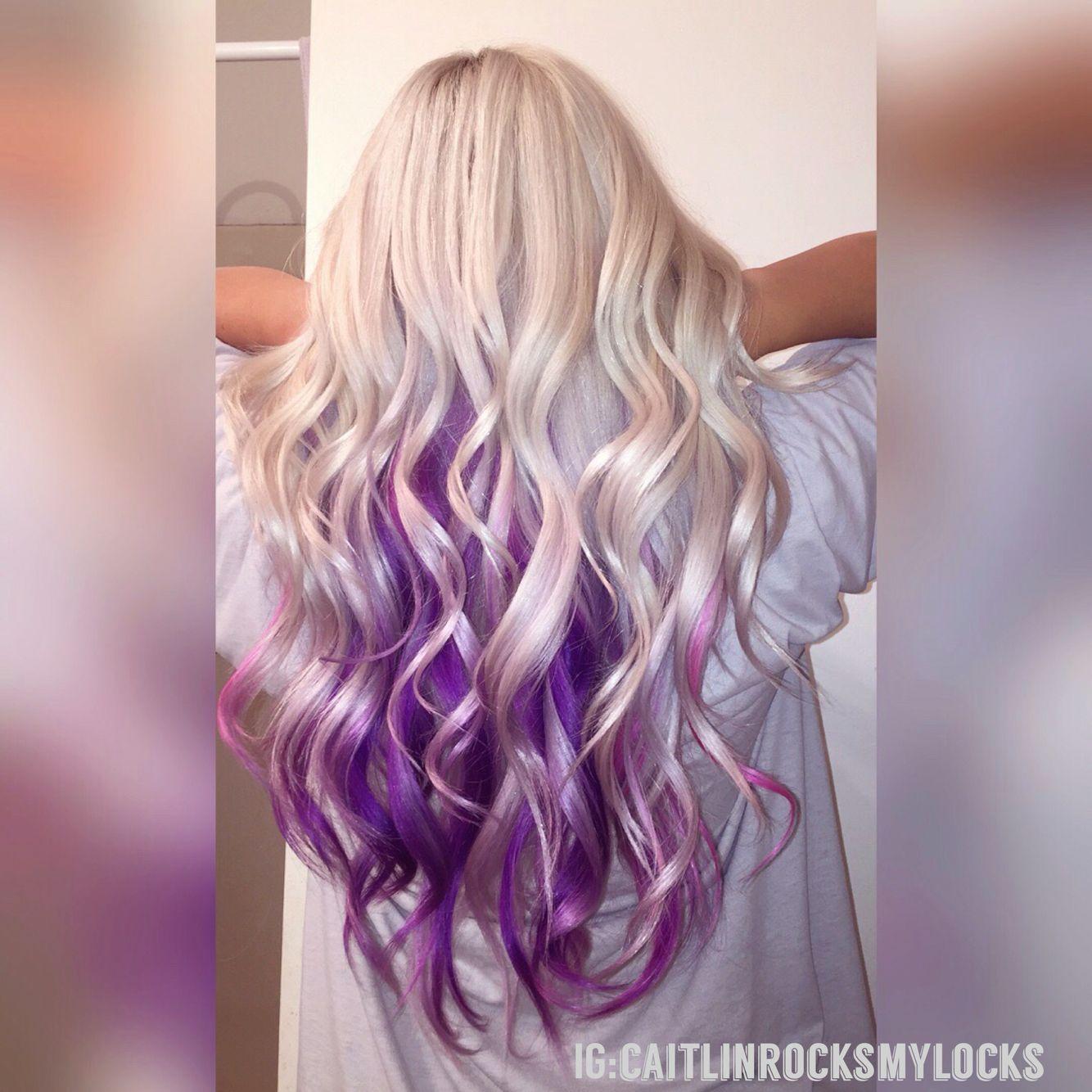 Purple hair. Mermaid hair. Platinum blonde hair. White hair ...