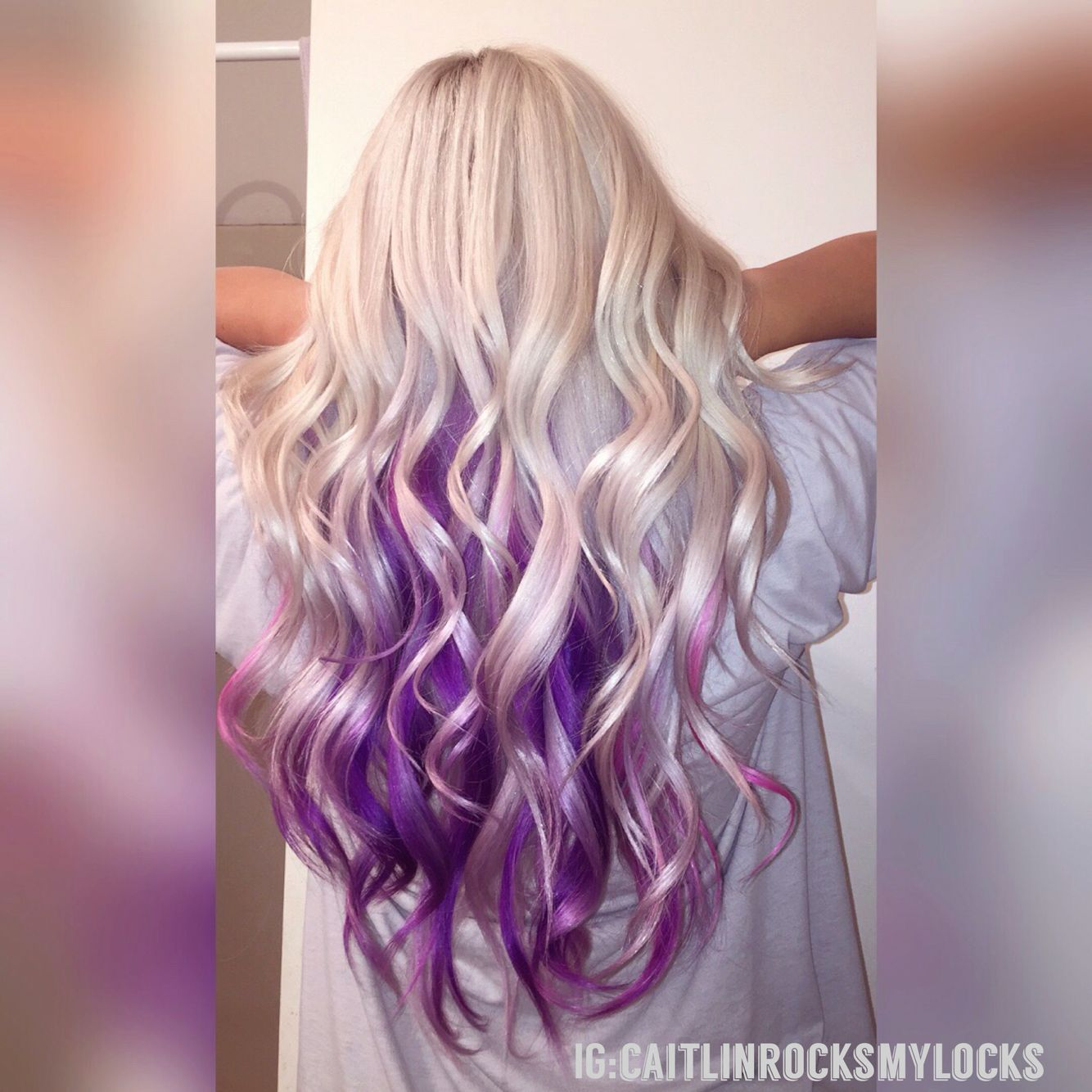 Purple Hair Mermaid Hair Platinum Blonde Hair White Hair Purple And Blonde Purple And Pink Colorful Platinum Blonde Hair Ash Hair Color Blonde Hair Color