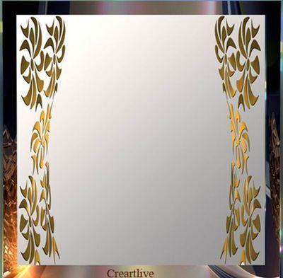 CREARTLIVE - Miroir à poser-CREARTLIVE-Miroir feuilles