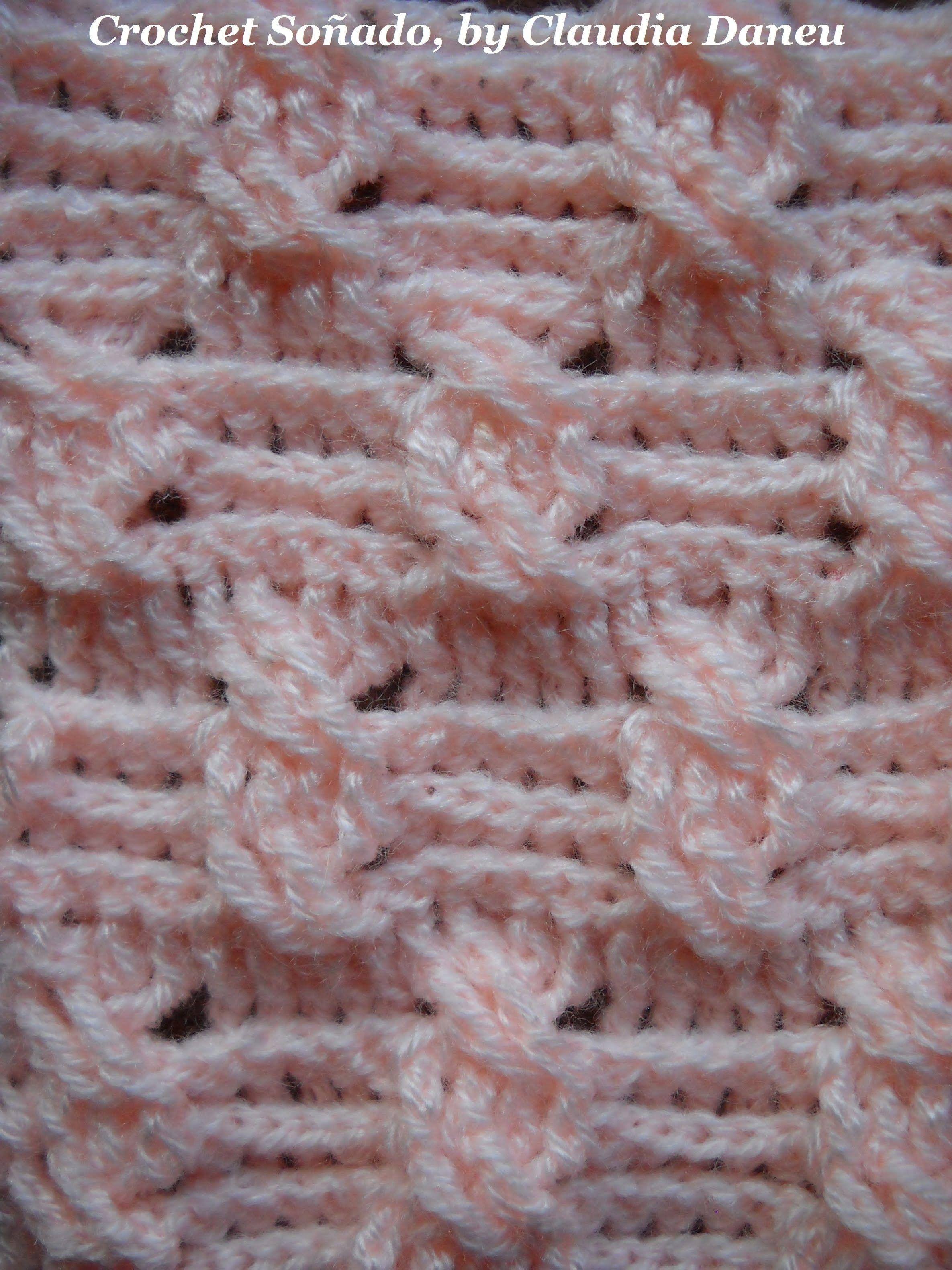 Crochet Cable Double Seed Stitch Punto Arroz Doble De Ochos Crochet