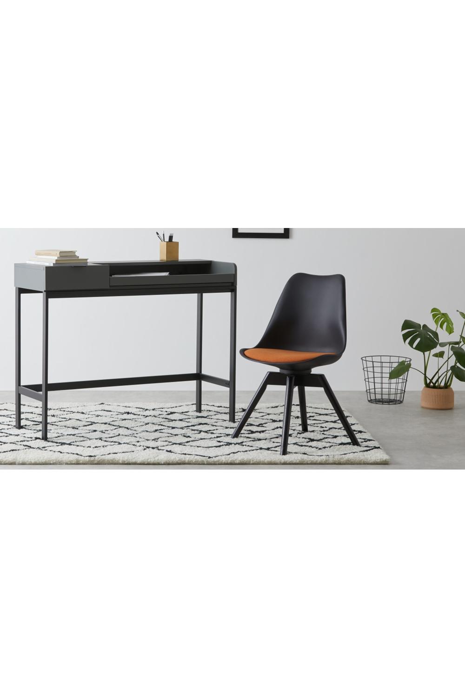 Thelma Bürostuhl, Schwarz und Orange