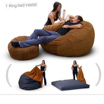Bean Bag Bed King Chair, Bean Bag Queen Bed