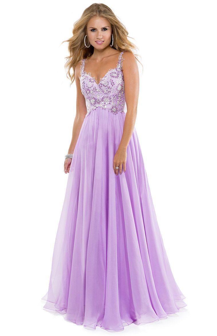 Light purple evening dresses