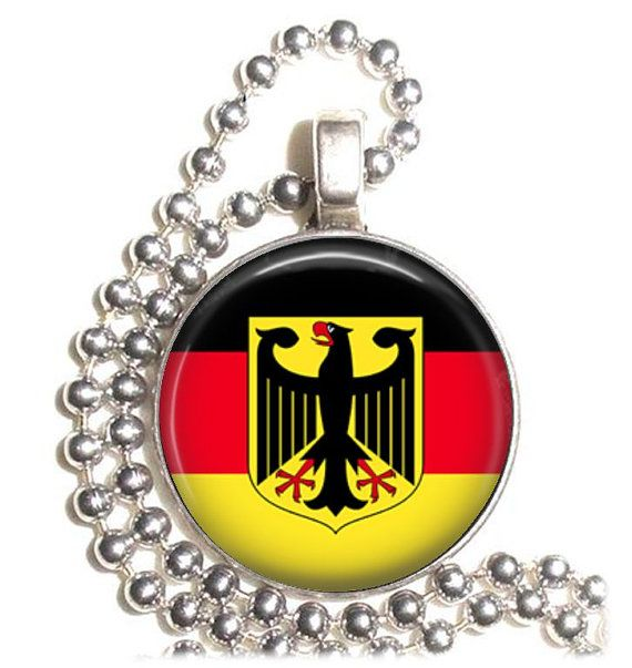 Germany Flag Altered Art Pendant Earrings and by YessiJewels