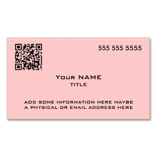 Custom qr code modern pink business cards qr code business card custom qr code modern pink business cards accmission Choice Image