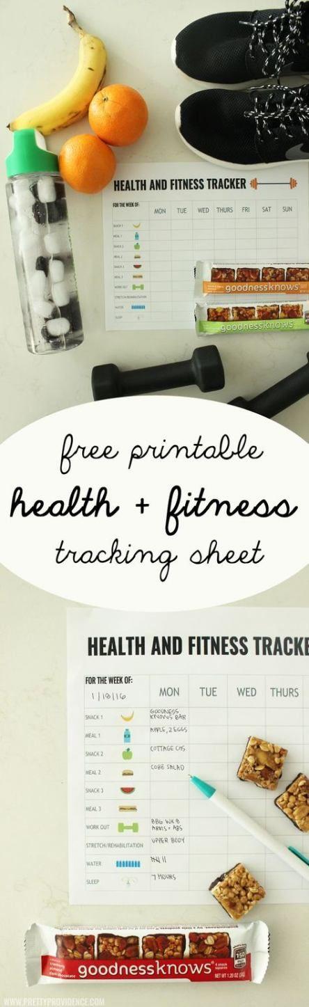 29 New Ideas Fitness Tracker Printable Free Health #fitness