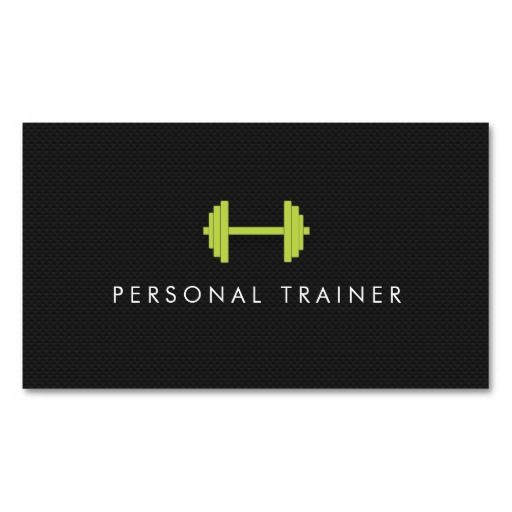 Simple Personal Trainer Fitness Business cards Trainer fitness