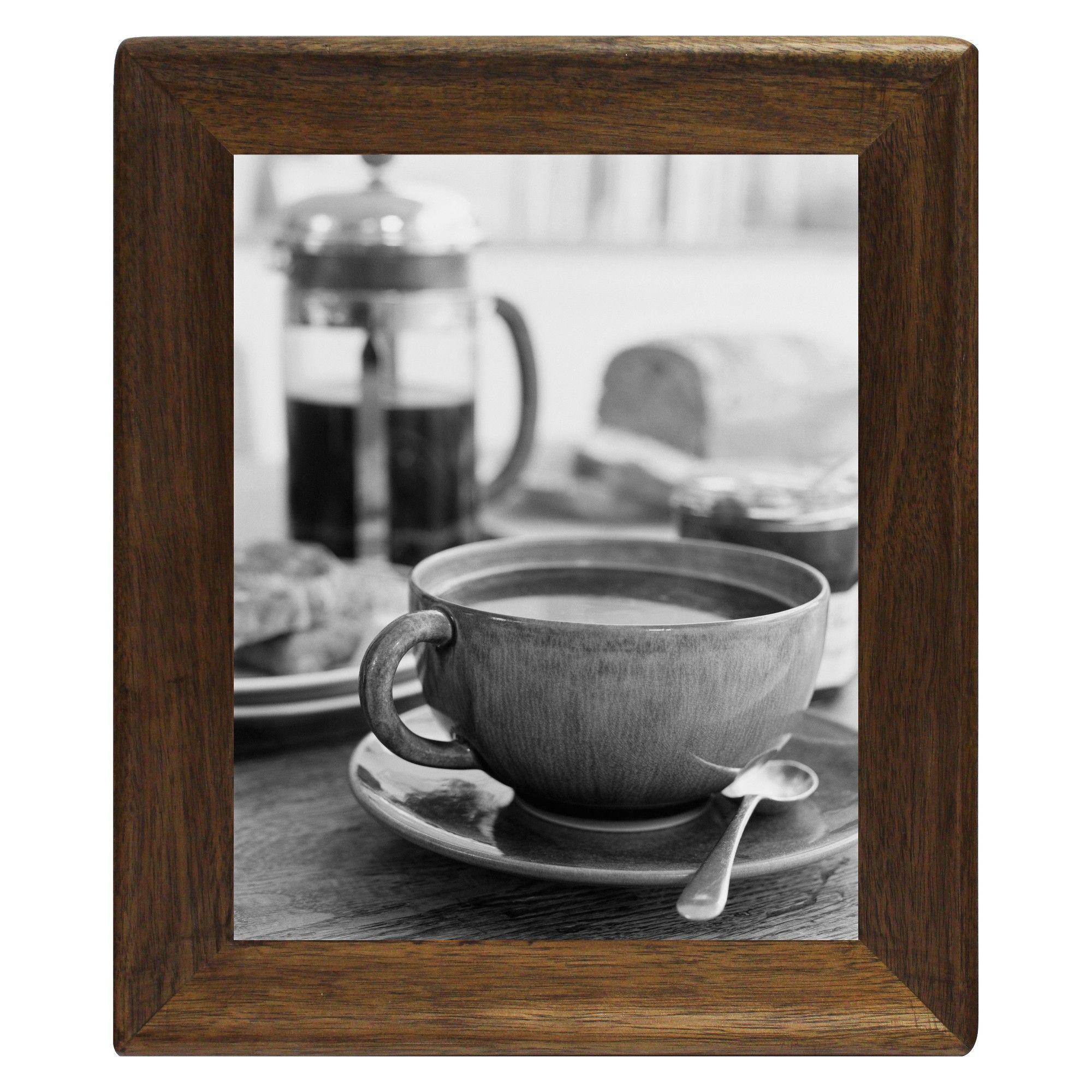 "8"" x 10"" Rounded Corner Frame Golden Walnut Threshold"