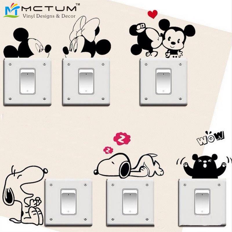 Interruptor De Luz Pegatina Micky Mouse Disney pegatina de interruptor de la luz