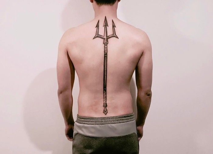 20 mighty trident tattoo designs and meanings trident tattoo trident and tattoo. Black Bedroom Furniture Sets. Home Design Ideas