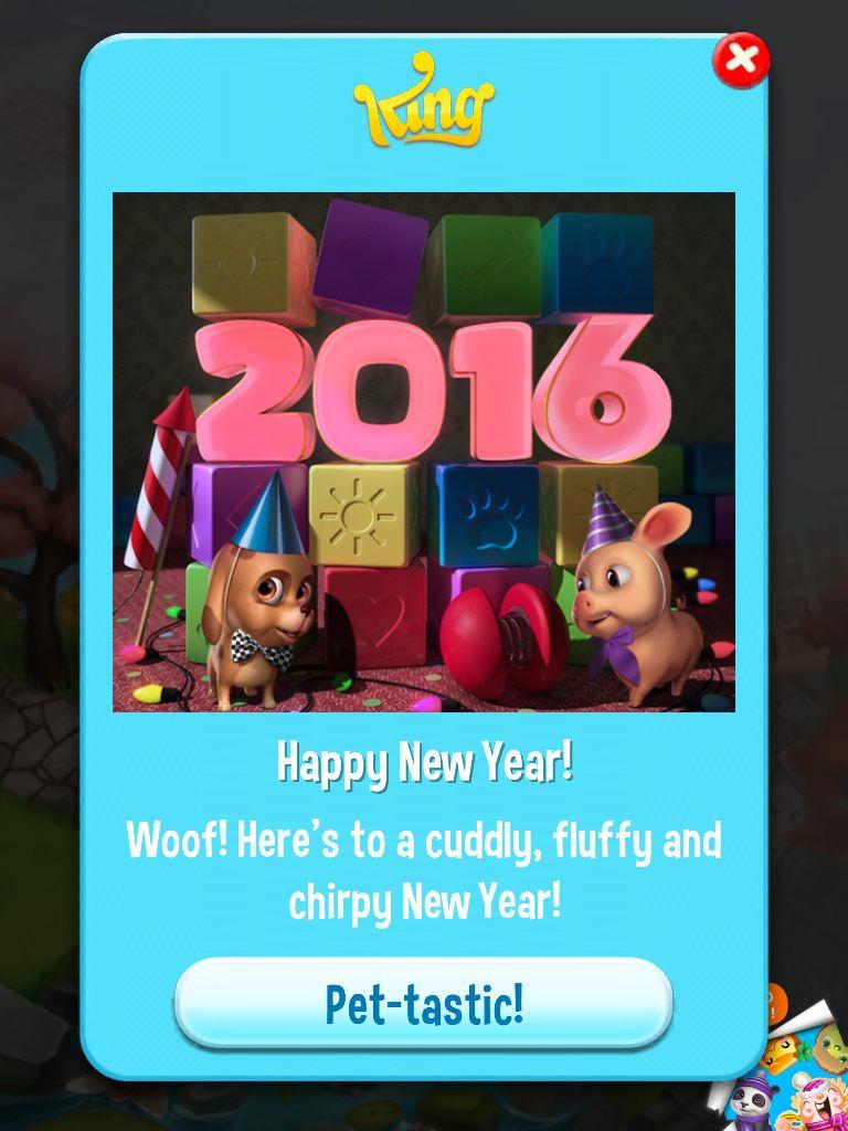 Happy New Year From Pet Rescue Saga Pet Rescue Saga Pets Happy New