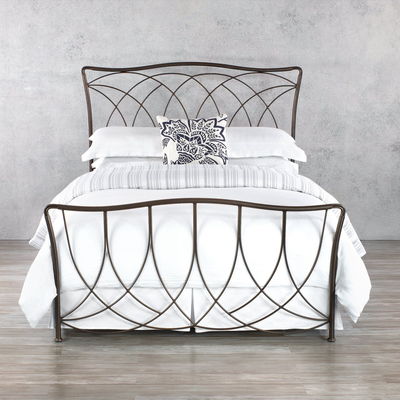 Wesley Allen Marin Bed Iron bed frame, Iron bed, White