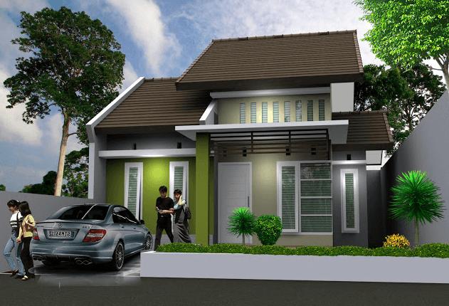 denah rumah minimalis modern type 45,desain rumah