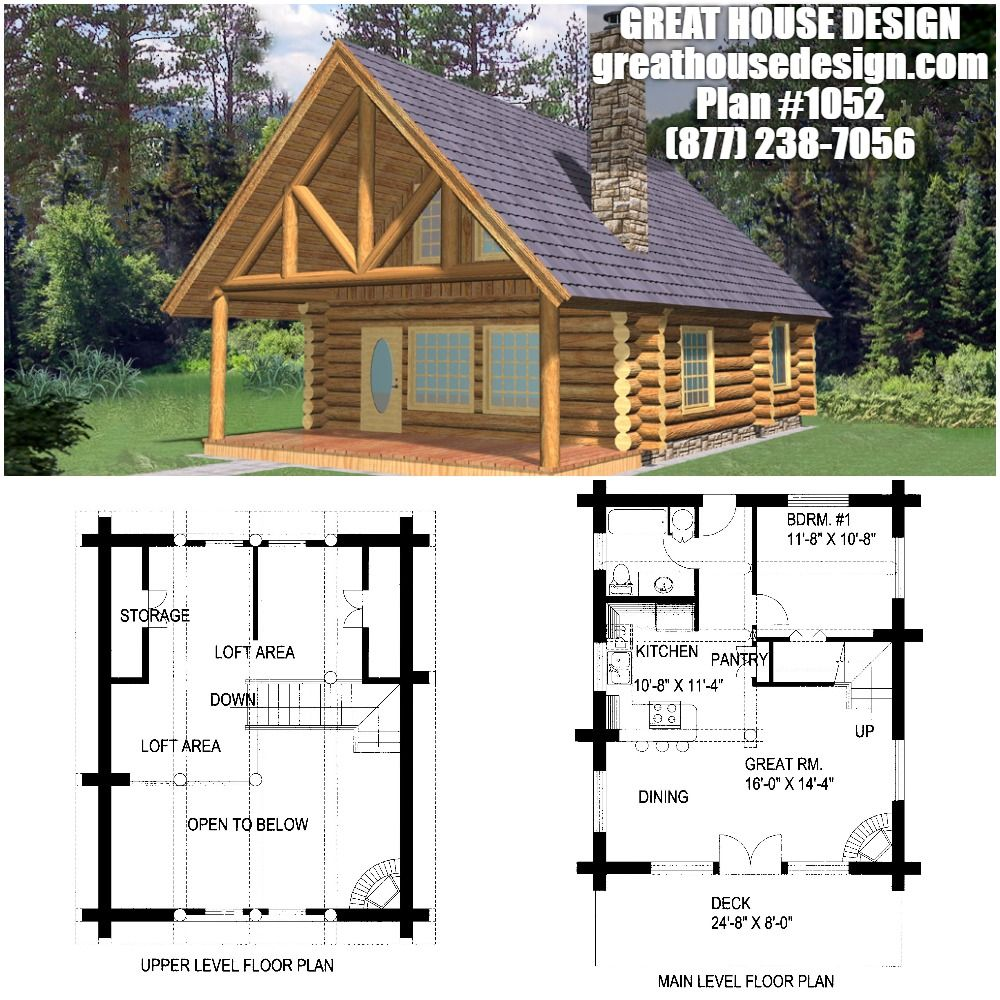 Home Plan 001 1052 Home Plan Great House Design Bungalow House Plans Cabin House Plans Log Cabin Plans