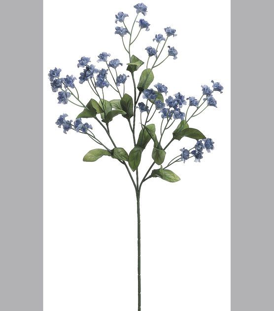 19'' Double Baby's Breath Spray Delphinium Blue19'' Double Baby's Breath Spray Delphinium Blue,