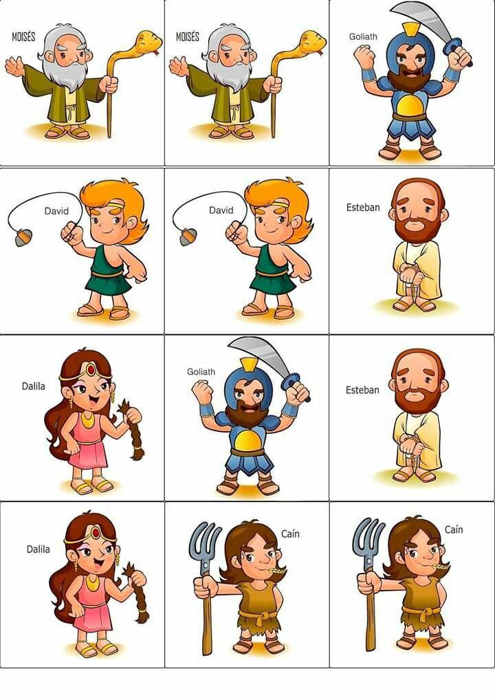 Juego personajes bíblicos   cuentos