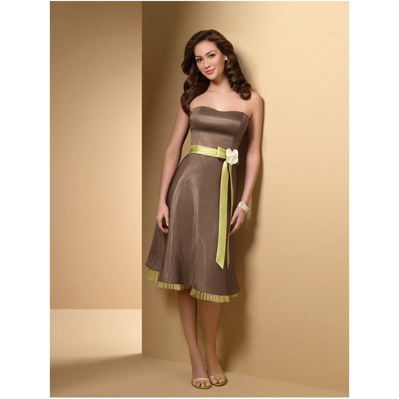 Green Brown Dress
