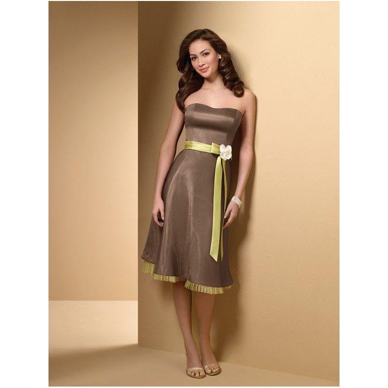Brown Bridesmaids Dress - Ocodea.com