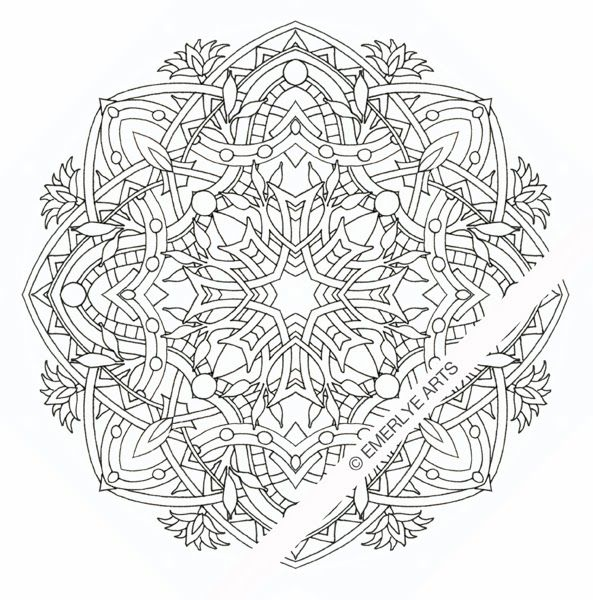 Egyptian Mandala - an adult coloring page. | Coloring ...