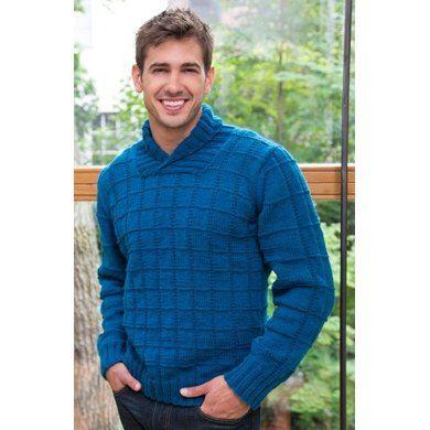 Shawl Collar Pullover in Red Heart Detroit - LW3912EN | Knitting Patterns | LoveKnitting