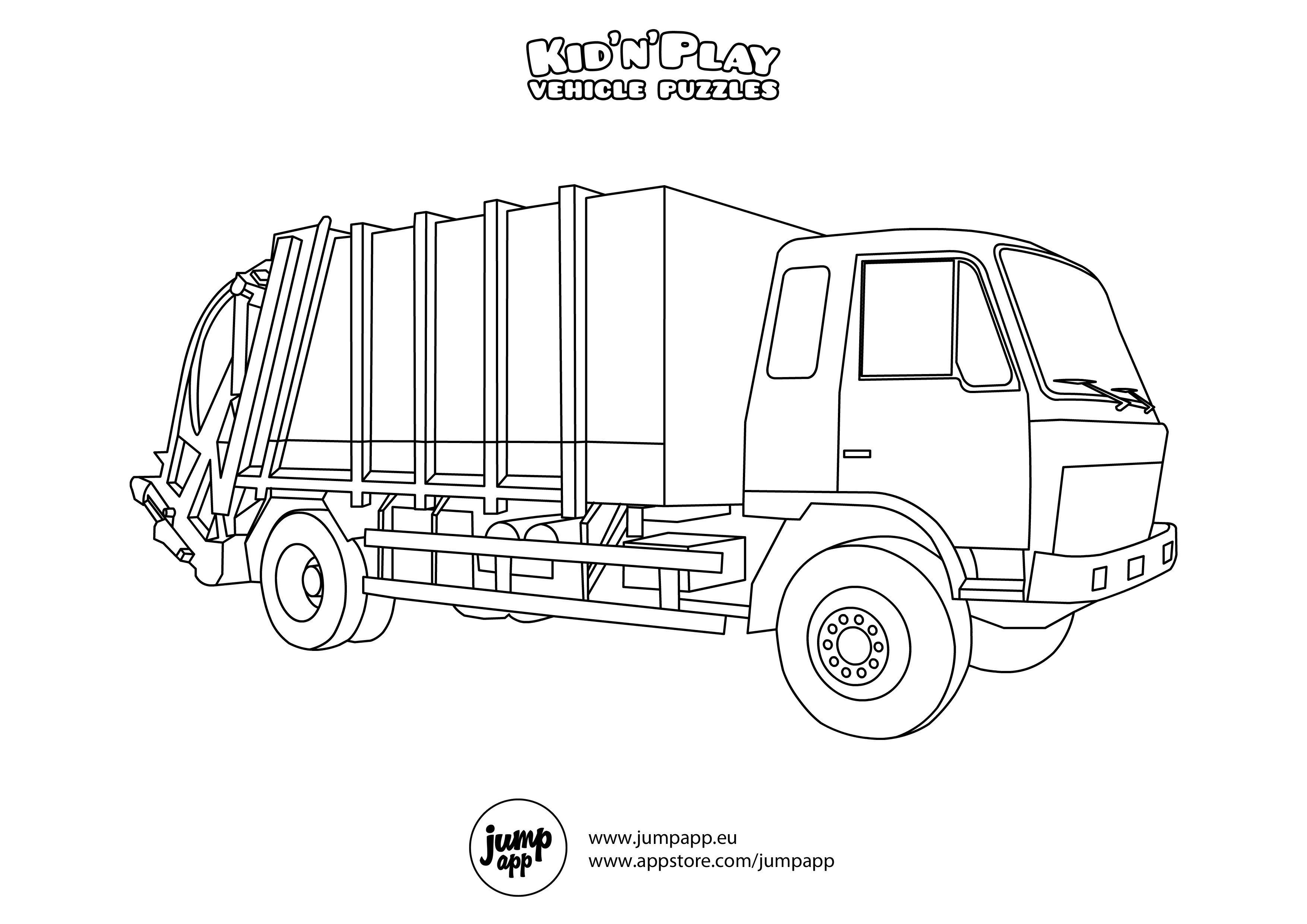 Free Printable Garbage Truck Coloring Page Download It At Https Museprintables Com Download Coloring Page Truck Coloring Pages Coloring Pages Garbage Truck