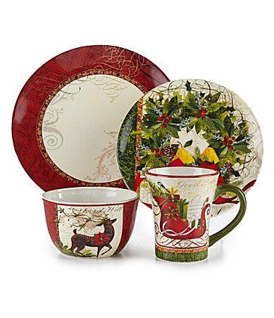 Certified International Winter Garden Dinnerware #Dillards | Set ...