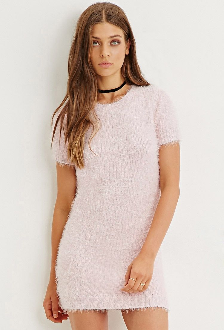 Fuzzy Knit Sweater Dress Forever 21 2000145304