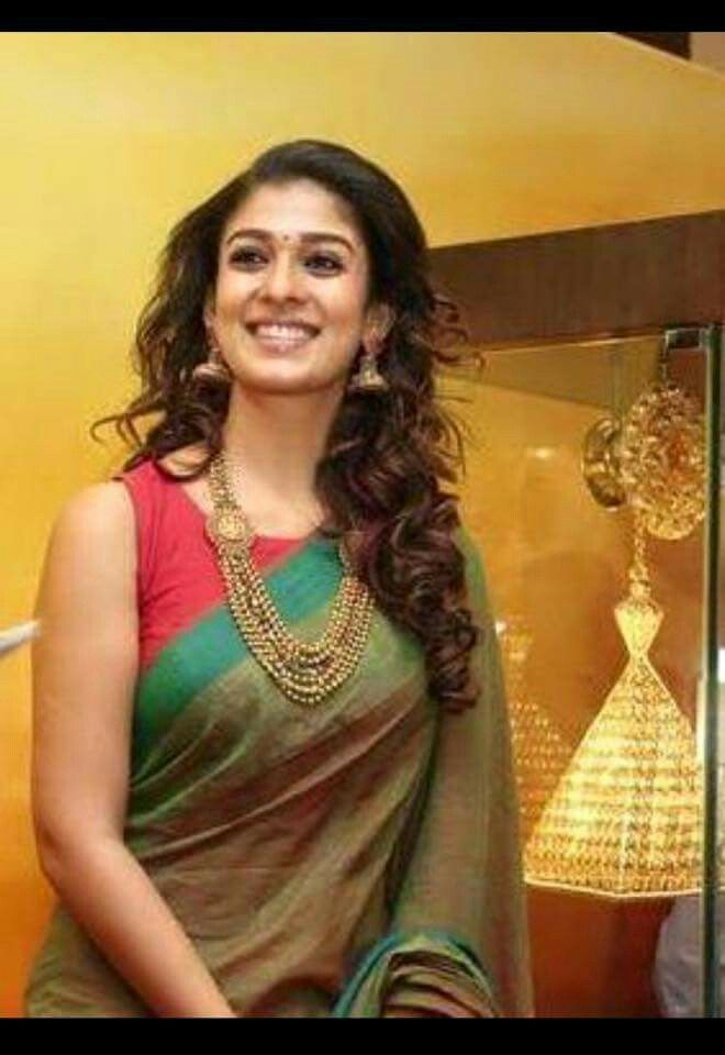 16096a9ba3497f Beautiful NayanaTara in Handloom Cotton saree and sleeveless blouse ...