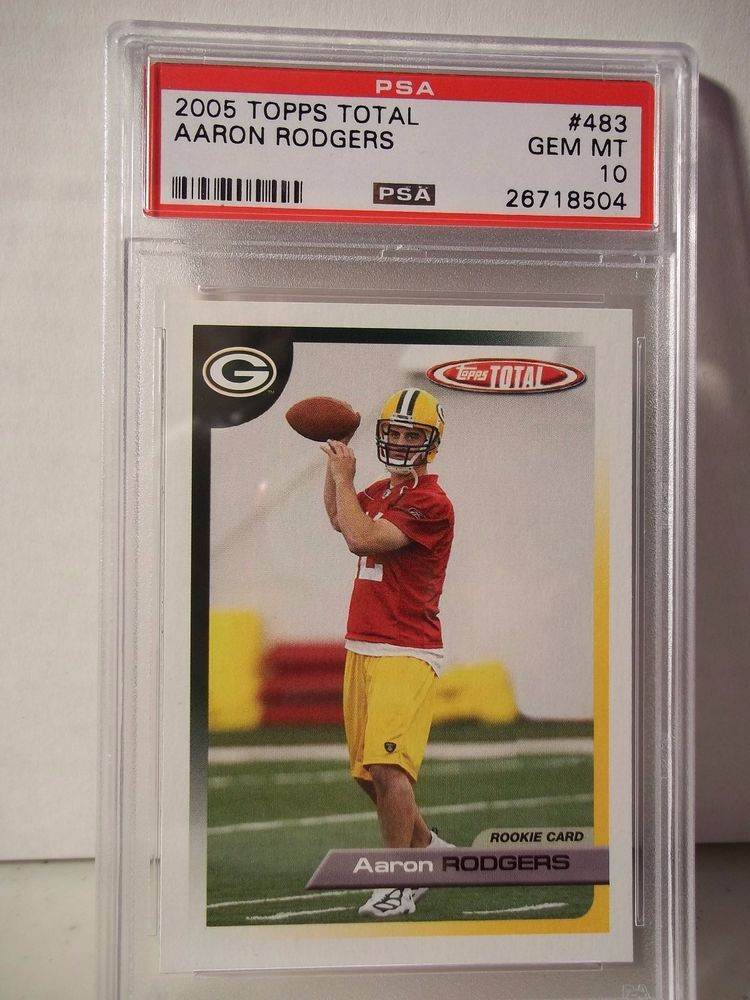 2005 topps total aaron rodgers rookie psa gem mint 10