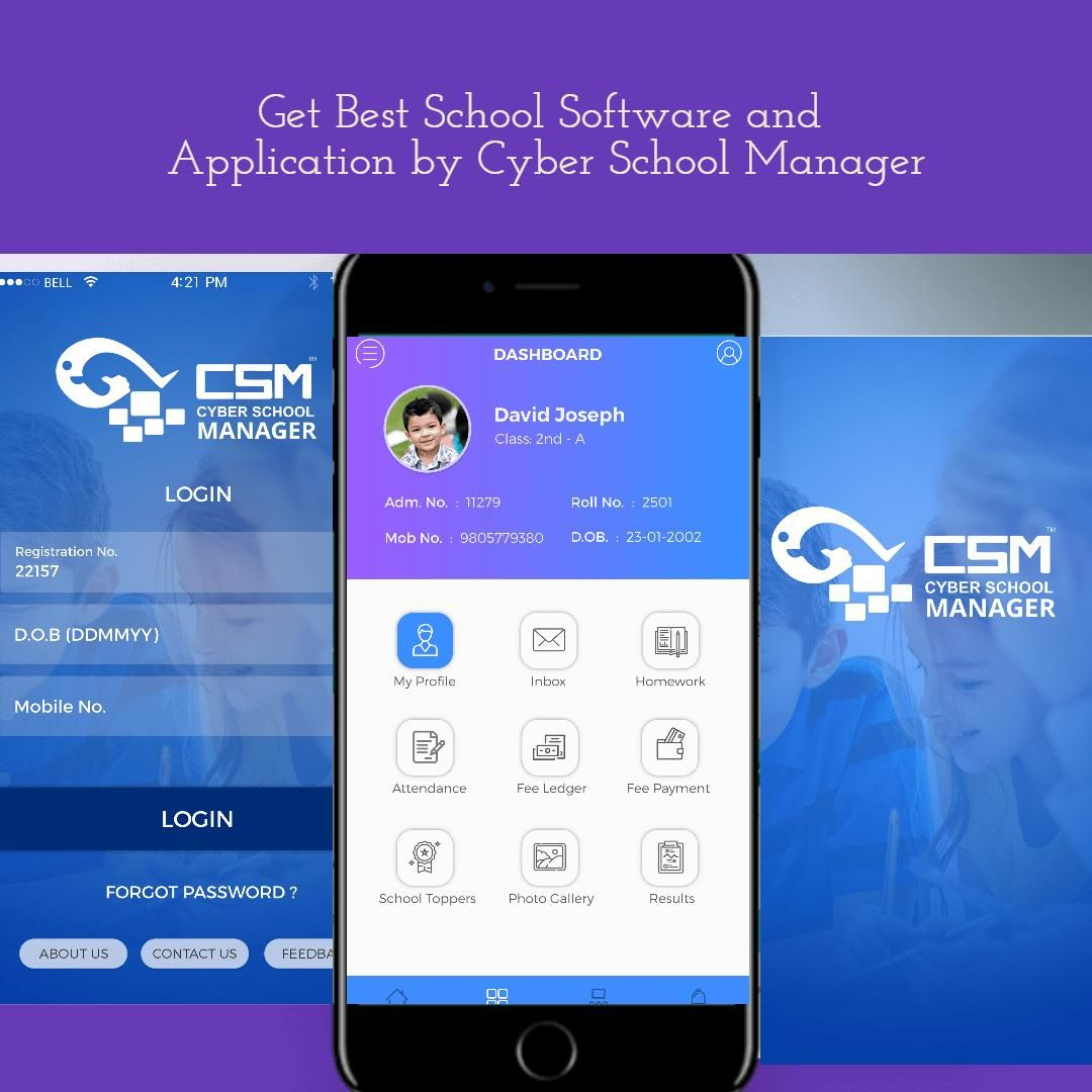Download best and friendly school management software and