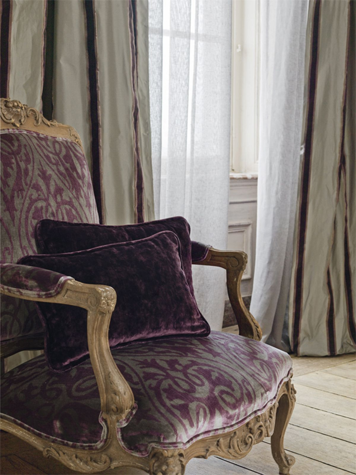 Patterned Purple Armchair From The @Lizzo Ducale Collection | Lizzo.net