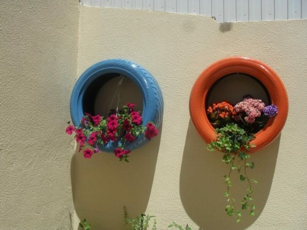 Blumentopf Selber Machen Alte Reifen Originelle Deko Ideen
